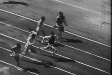 Track And Field Events In 1941 stock footage