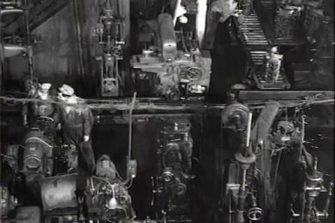 European Car Factory In 1948 stock footage