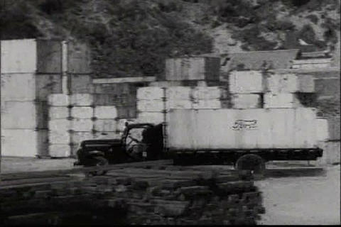 Ford cars are shipped around the world in 1948, in Footage