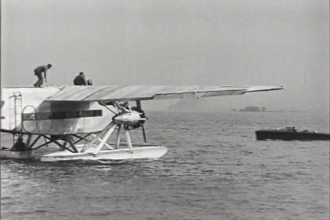 Float planes are first tested in America in 1926 Footage