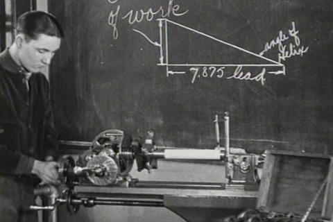 In the 1920s, boys attend trade schools to learn a Footage