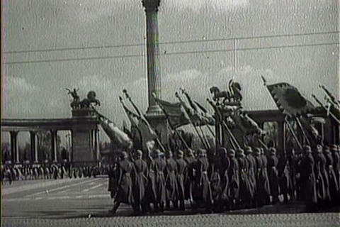 The Nazis march into Budapest, Hungary in World Wa Footage