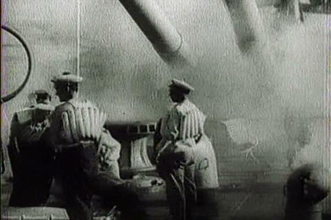 Captured Italian war film from 1941 shows British  Live Action