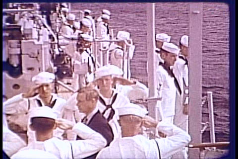 FDR visits with the Duke of Windsor in 1940 aboard Footage