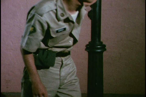 A military police training film teaching ways to i Stock Video Footage