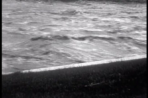 Flooding In Reno, Nevada In 1927 stock footage