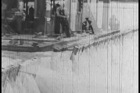 1930s film about weather predicting and floods fro Footage