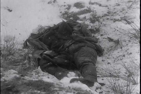 German newsreel from 1944 shows Nazis battling sno Footage