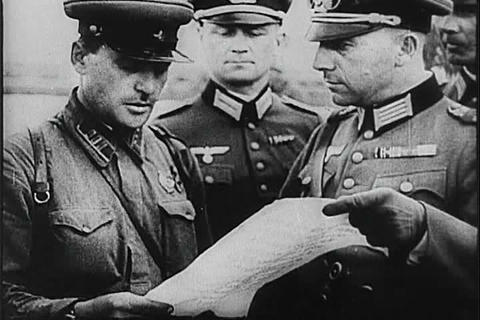 Hitler invades Poland in World War Two and Britain Footage