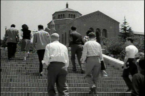 UCLA Campus In 1948 stock footage