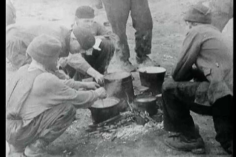 Footage of Munster Nazi Concentration Camp victims Live Action