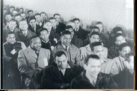 African Americans And Others Enlist In World War T stock footage