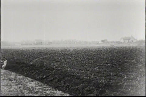 The Tractor Is Introduced To The Farm In 1917 stock footage