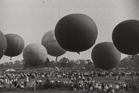 The Gordon Bennett balloon race of 1928 Live Action