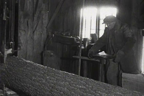 The workings of a sawmill in 1926 Footage