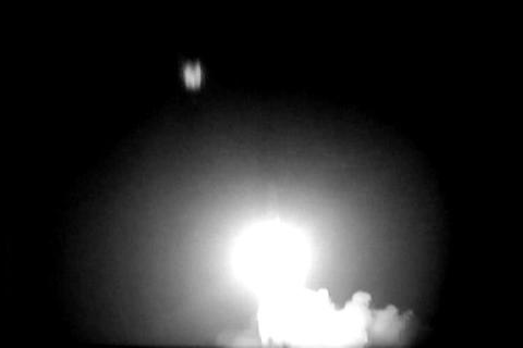 The Atlas missile takes flight from Cape Canaveral Footage