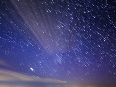 Stars leave traces. Time Lapse Footage