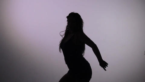 dancing silhouette of girl Animation