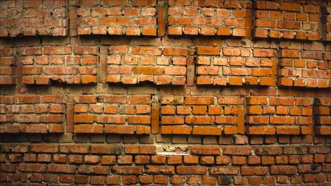 Brick Wall Raw Quality stock footage