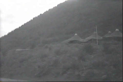 Unedited silent footage of 1952 helicopter operati Footage