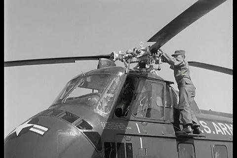 Helicopter pilots are trained at Ft. Rucker, Alaba Footage