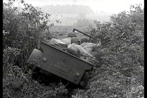 Engineers test the jeep during World War Two Live Action