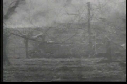 The Battle of San Pietro in World War Two Stock Video Footage