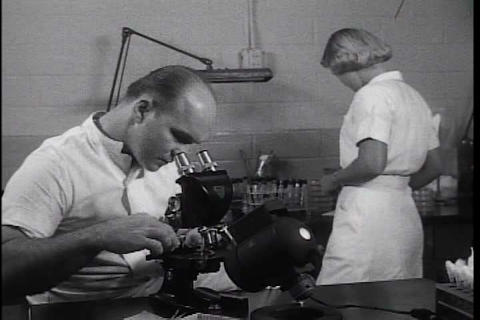 Advances In Treating Burn Victims In The 1950s stock footage