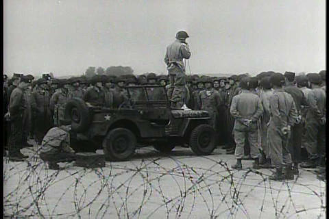 Airborne troops lead in the invasion of Germany du Footage