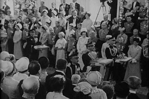 The Shah of Iran is crowned during a ceremony in 1 Live Action