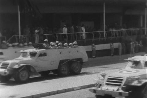 A military parade through Cairo Egypt in 1959 Live Action