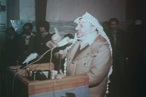 Yasser Arafat gives an impassioned speech in 1980 Live Action