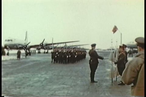 FDR visits Russia in 1945 to attend the Yalta Conf Footage