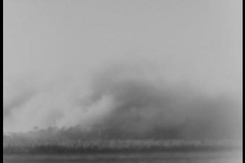 A building is blown up in 1931 Footage