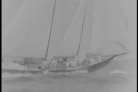 Fisherman's Title Sailing Race In 1931 stock footage