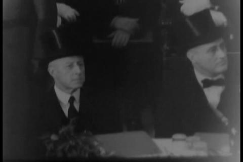 The opening of a great bridge in 1931 Footage