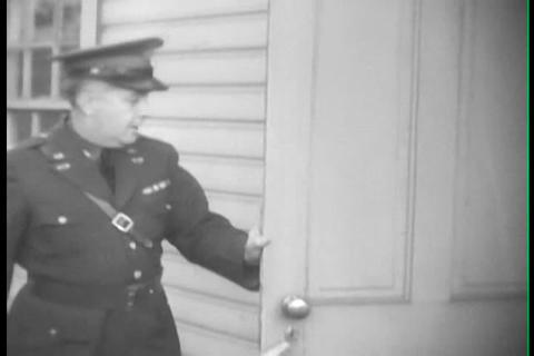 Fort Jay New York, 1930s, nurses wear gas masks in Footage