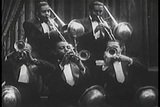 The Duke Ellington orchestra plays in a formal bal Footage