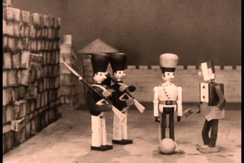 Early stop motion animation film Live Action