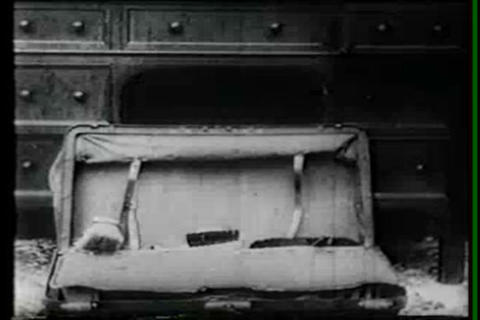 An Unusual Silent Film Uses Stop Motion Animation  stock footage