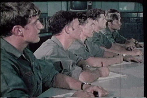 Army diving school in the 1960s Stock Video Footage