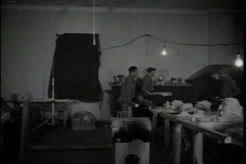 MASH style hospitals in Korea in 1950 Footage