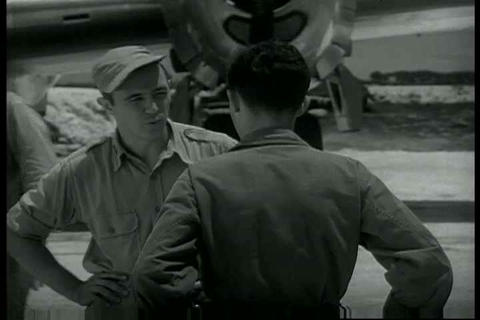 Silent outtakes of the crew of the Enola Gay which Live Action