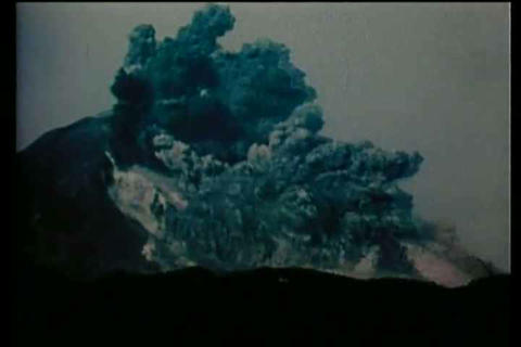 Mount St. Helens eruption in 1980 Footage