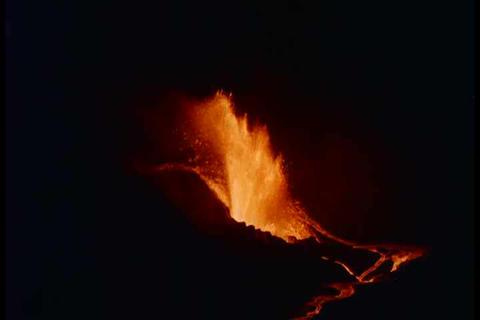 Hawaiian volcano at Kilauea Iki erupts in 1960 Live Action