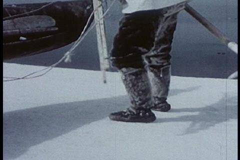 Eskimos hunt seals in the 1950s Live Action