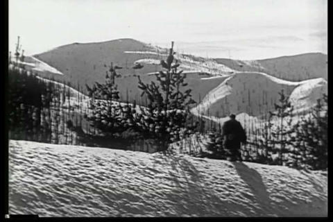 A man snowshoes through Alaska in winter in the 19 Live Action