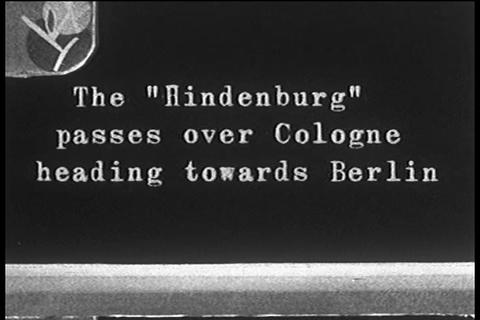 Home movies of the Hindenburg flying over Nazi Ger Footage