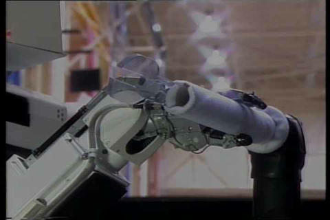 NASA Develops Cool Robots Capable Of Rescuing A Sp stock footage