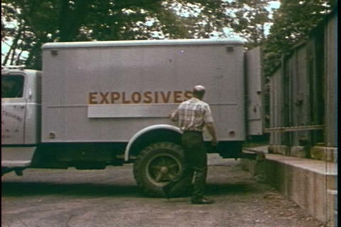 Storage of domestic explosives and their transport Footage